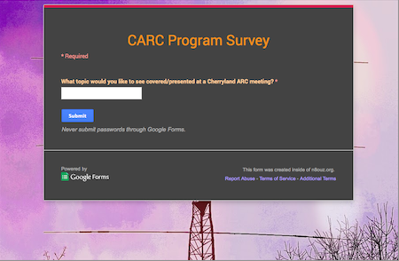 CARC Program Survey