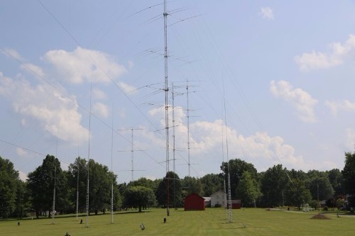 A small portion of the antennas at the K3LR super station